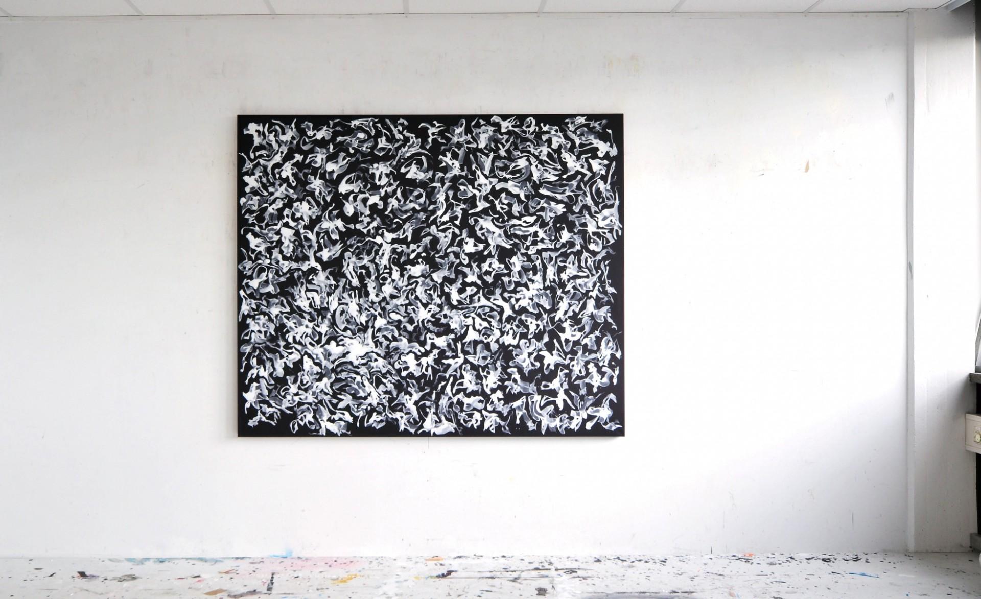 Werk-Nr. 2089, Acryl auf Leinwand, 150 x 180 cm, 2011