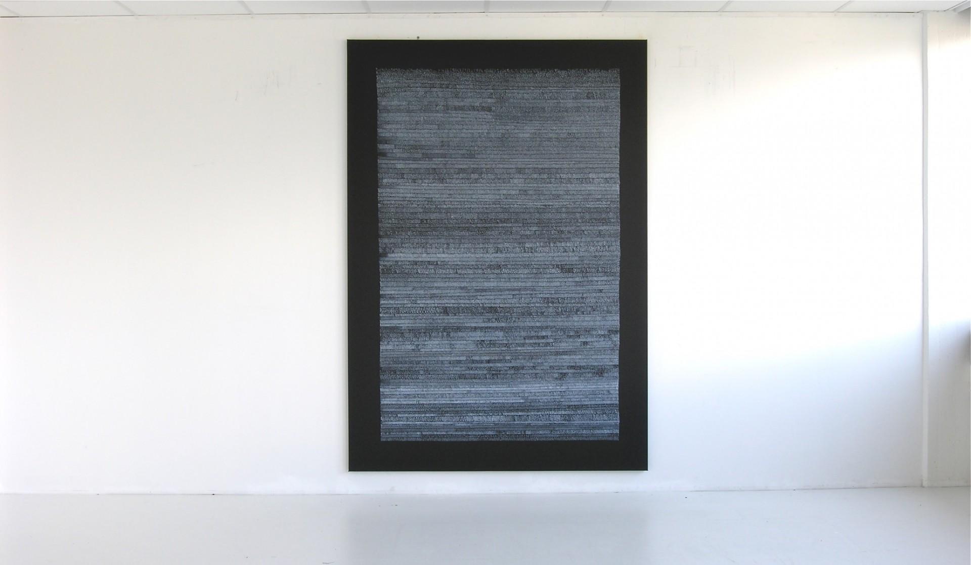 Werk-Nr.963, Acryl auf Leinwand, 230 x 160 cm, 2005