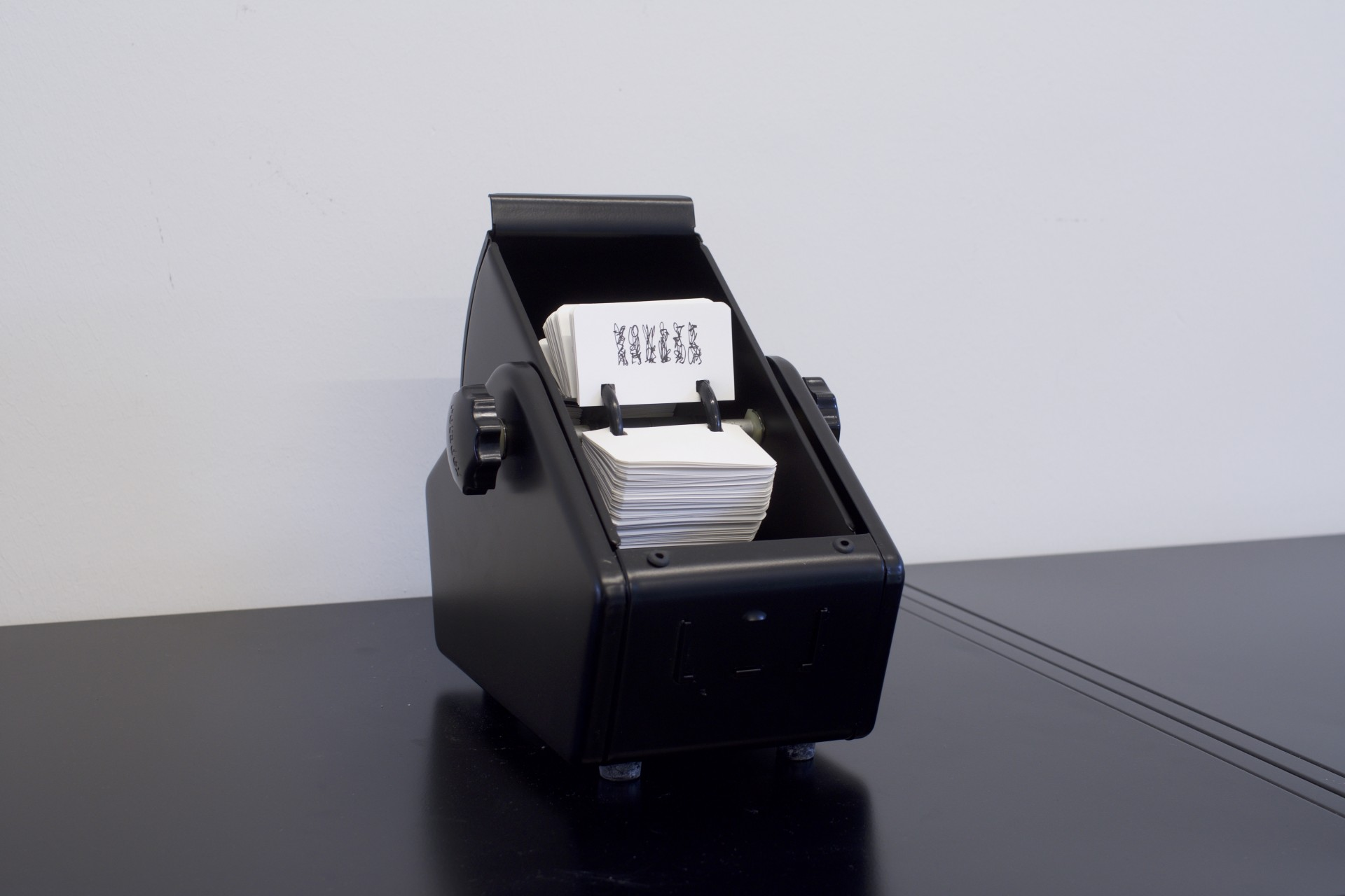 Rotadex, Stahlgehäuse mit 500 Karteikarten 8,9 x 5,2 cm, 2017