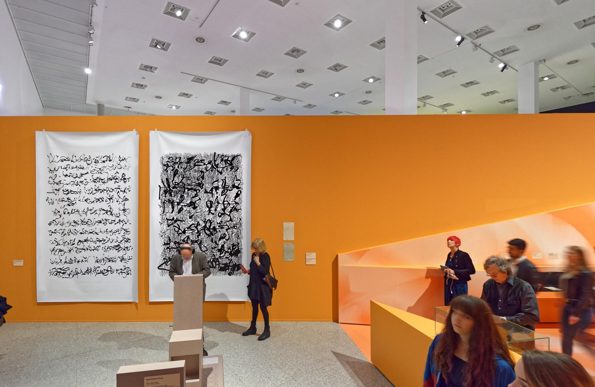 Palimpsest 004 und Palimpsest 012, je 330 x 200 cm, Latexdruck auf LKW-Plane, 2019
